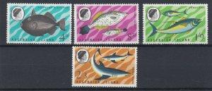ASCENSION  1968   FISH  SET  MNH