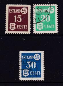 German Occupation of Estonia the 1941 Tartu issue M or U