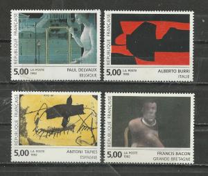 France Scott catalogue #2314-2317 Unused HR