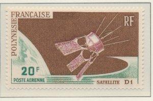 French Polynesia Stamp Scott #C-42, Mint Hinged