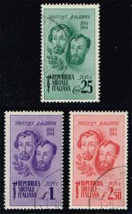 Italian Social Rep. 32-34 Brothers Set of 3; CTO (8.60)