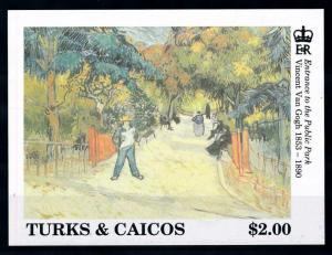 [76442] Turks & Caicos Islands 1991 Painting Van Gogh Entrance Park Sheet MNH