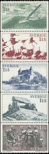 Sweden 1978 Sc 1248-1252 Birds People Airplane CV $2.75