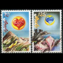 ARUBA 1988 - Scott# 36-7 Love Set of 2 NH