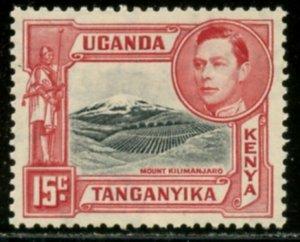 KUT Sc#72b (SG#137) 1938 KGVI 15c Perf Variety Mint NH