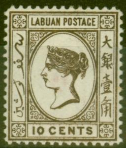 Labuan 1892 10c Brown SG43 Fine & Fresh Mounted Mint