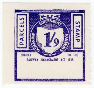 (I.B) Australia - Tasmania Railways : Parcels Stamp 1/9d