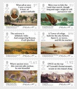 Isle of Man 2020 William Wordsworth 1770-1820 Itinerary Poems of 1833 6v MNH