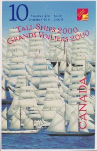Canada - 2000 46c Tall Ships Complete Booklet #BK230b Open Cover