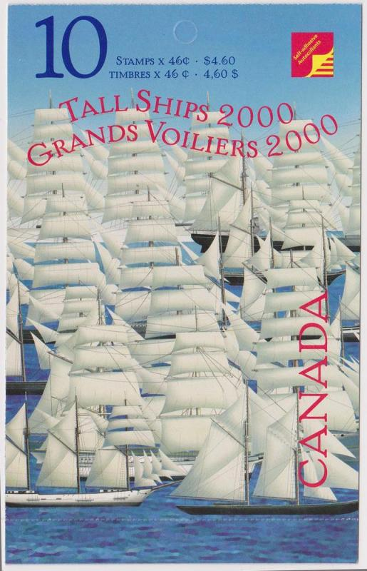 Canada - 2000 46c Tall Ships Complete Booklet #BK230a Sealed Cover