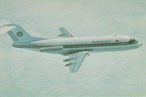 8030 Aviation Postcard   FOKKER F 28 MK 4000 BURMA AIRWAYS  Airlines