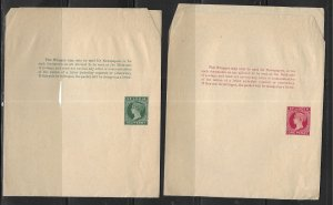 St. Lucia Postal Stationery Wrapper H&G 1-2 Unused