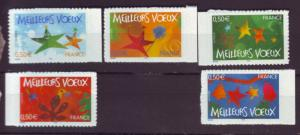 J20477 Jlstamps 2004 france set mnh #3059-63 self adhesive