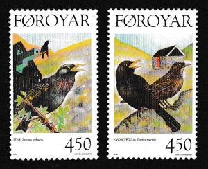 Faroe Is. Birds issue 1998 2v SG#336-337 MI#332-333 SC#330-331