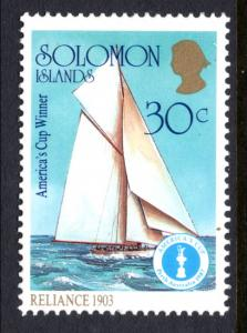 Solomon Islands 572e Sailboats MNH VF