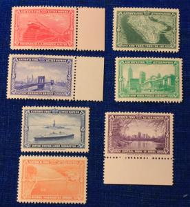 EATON'S FINE LETTER PAPERS 7 DIFFERENT MINT NEVER HINGED STAMPS ISSUED 1939