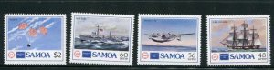 Samoa MNH 675-8 Ships & Planes