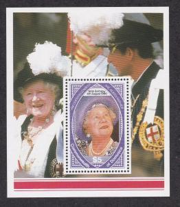 Dominica # 1265, Queen Mothers 90th Birthday, Souvenir Sheet, NH, 1/2 Cat.