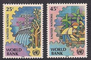 UN NY Sc# 546 547 World Bank MNH
