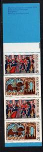 Sweden Sc 1024a 1973 Christmas  stamp bklt of 10 mint NH