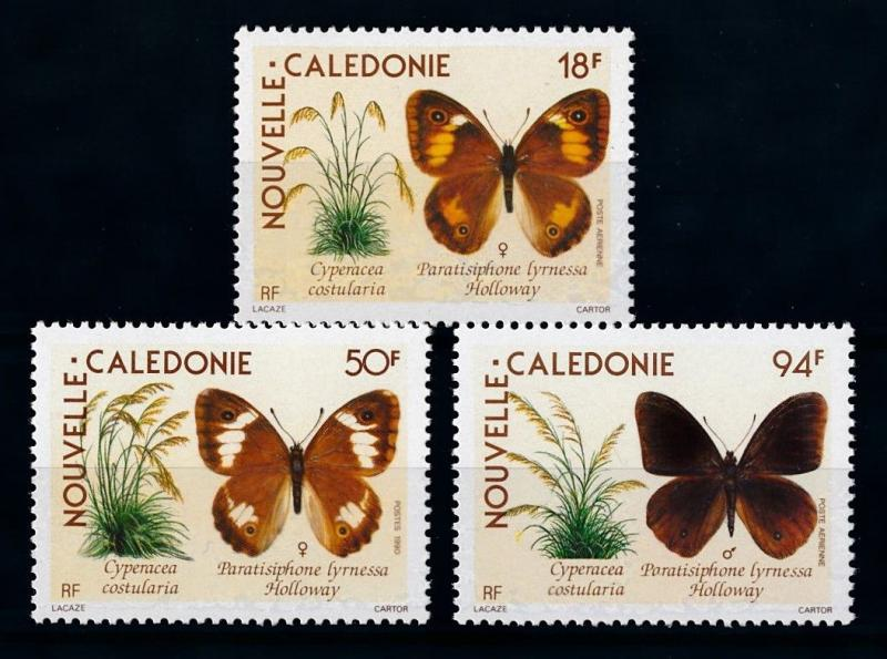 [70365] New Caledonia 1990 Insects Butterflies  MNH