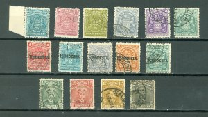 RHODESIA EARLY LOT of 15...USED NO THINS...$150.00