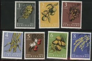 Suriname Scott 284-290 MNH** 1961 edible plant set