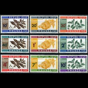 RWANDA 1963 - Scott# 27-35 Crops Set of 9 NH
