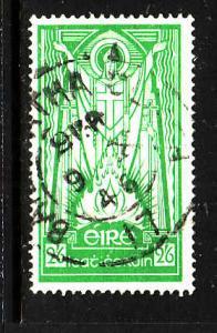Ireland-Sc#121-used 2sh6p bright green-St. Patrick-dated 9 X 1946-