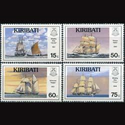 KIRIBATI 1990 - Scott# 557-60 Ships Set of 4 LH