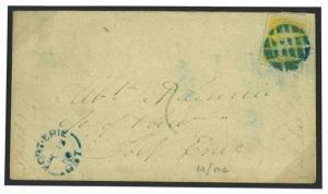 W364a 1880CANADA Fort Erie Cork Cancel