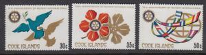 Cook Islands 547-9 Rotary mnh