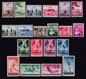 Yugoslavia x 4 MH sets from 1930's