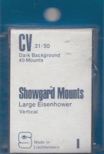 SHOWGARD BLACK MOUNTS CV 31/50 (40) RETAIL PRICE $3.95