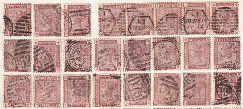 GREAT BRITAIN SC 79 CANCELS SOUND x24 $318 SCV MOUNTED #1