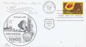 1183 4c KANSAS STATEHOOD - Etrick Cover #13