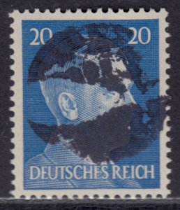 Germany Soviet Zone SBZ - LOCAL BLOSENBERG 20Pf HITLER head - Expertized Richter