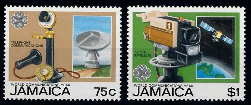 [66143] Jamaica 1983 Space Travel Weltraum Satellite From Set MNH