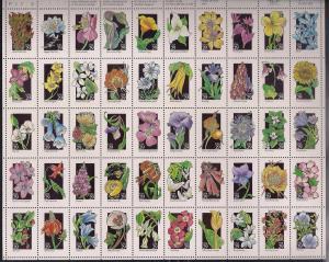 #2647-96 29 cent Wild Flowers of America Sheet mint OG NH XF