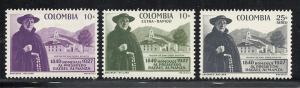 Colombia #695, C313-4 comp mnh cv $.80 Religion