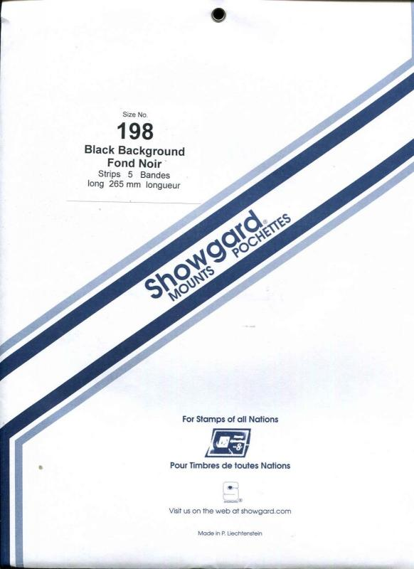 5 Showgard Black Stamp Mount 198 high X 265 long  (5 count)