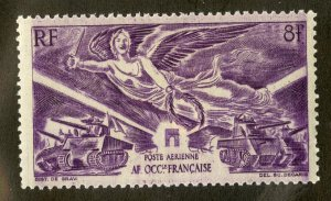 FRENCH WEST AFRICA C4 MH SCV $1.60 BIN .75 MILITARY