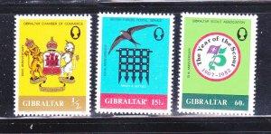Gibraltar 437-439 Set MNH Various