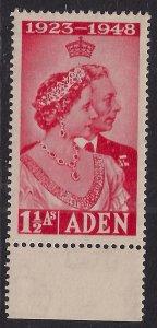 Aden 1948 KGV1 1 ½ Annas Scarlet Silver wedding SG 30 Umm  ( G1187 )