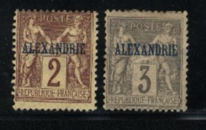 French Offices in Egypt #2-3  Mint  1899-1900 PD