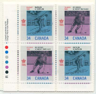 Canada - 1986 Olympic Winter Games Hockey Imp. Blocks #1112a