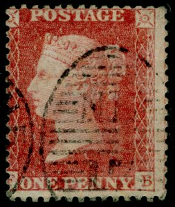 SG40, 1d rose-red PLATE 39, LC14, USED. Cat £25.