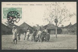 SENEGAL c1910 postcard used DAKAR  to Belgium..............................61944