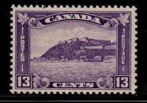 Canada Sc 201 1932 13c violet Quebec Citadel stamp mint NH