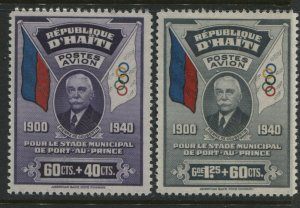 Haiti 1940 Semi-Postal Airmails unmounted mint NH